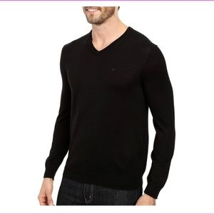 Calvin Klein Italian Merino Wool V-Neck Sweater M